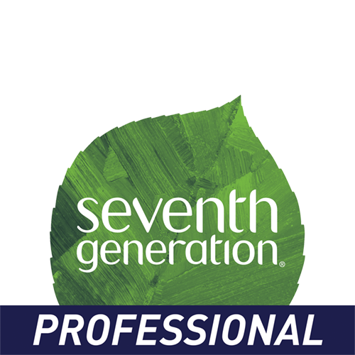 An illustration of a green plant leaf with text overlay: Seventh Generation Professional. Under the leaf is a blue bar with text overlay: Professional.